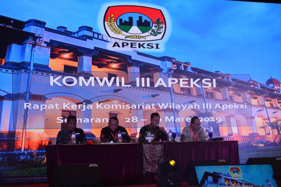 Rapat Kerja Komisariat Wilayah III Apeksi