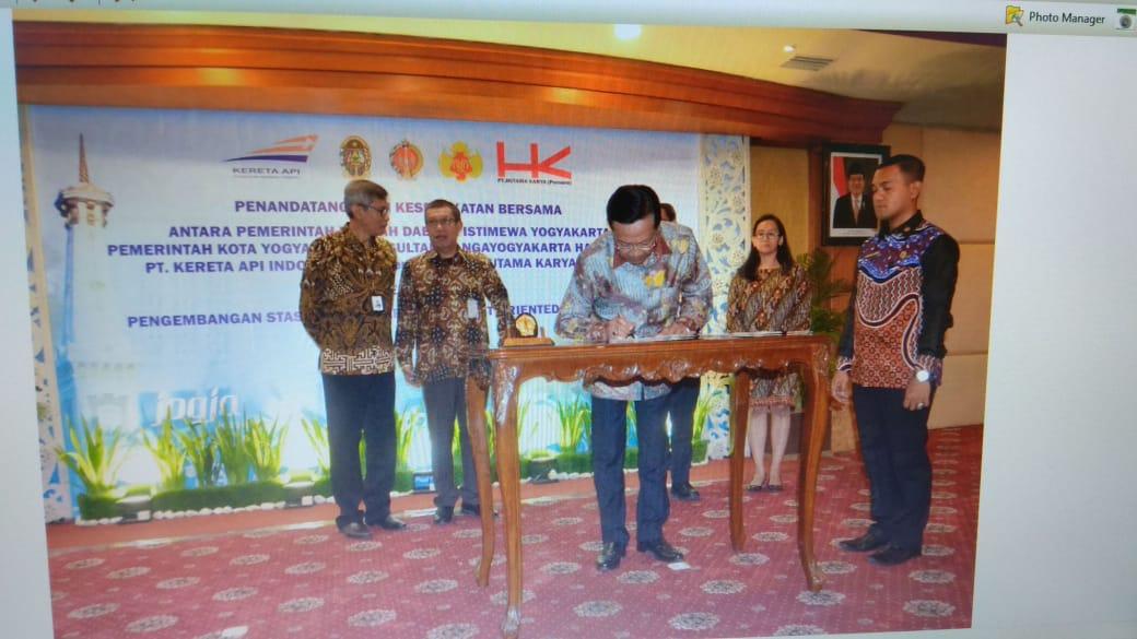 Penandatanganan Kesepatan Bersama Terkait Pengembangan Stasiun Tugu Yogyakarta